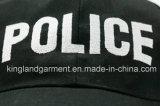 Gorra de béisbol negra militar del bordado de la policía del taladro del algodón