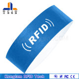 Wristband de papel portable modificado para requisitos particulares venta al por mayor de RFID