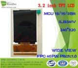 3.2 인치 240*320 MCU 18/16/9bit 46pin, Ili9341V 의 TFT LCD 위원회