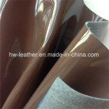 女性靴袋Hx-S1708のための折るマーク無しのパテントPUの革