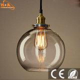 Lampe pendante s'arrêtante originale de lampe en verre DEL de 2017 diverse formes