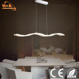 Luz ondulada de la luz pendiente LED de la lámpara de la cafetería