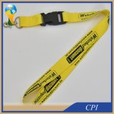 Lanière jaune lumineuse de polyester avec la boucle escamotable