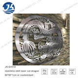 Aço inoxidável Laser Cutting Chinese Dragon Metal Wall Art