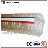 Boyau renforcé spiralé mou de fil d'acier de PVC