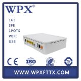 FTTX GPON Home Gateway Unit HGU Ont с VoIP + WiFi + USB
