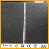 Escaliers gris foncés profondément rectifiée/de Matt G654 granit avec le bord Polished et conique