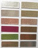 光沢がある小さい小石の穀物靴のサンダルHx-S1730のための総合的なPUの革