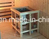2000mm Big Size Square Sauna em madeira sólida para 8 pessoas com banco de dupla camada (AT-8641)