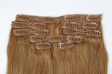 Зажим 100% человеческих волос в выдвижениях волос