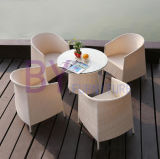 Jogo de jantar de vime do pátio do jardim de tabela da cadeira do Rattan ao ar livre