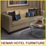 Sofá de cinco estrellas de madera moderno de 3 asientos del conjunto de dormitorio del hotel