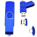 USB plástico Pendrive do telefone da vara da memória da movimentação OTG do flash do USB