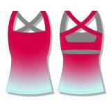 2016 nuove vendite calde all'ingrosso progettano le parti superiori per il cliente di serbatoio di forma fisica delle donne di sport di yoga
