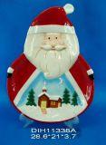 Piatto di ceramica dipinto a mano del biscotto della Santa