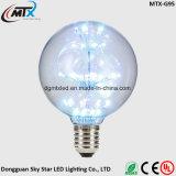 LED 가벼운 끈 전구 안뜰 전구는 새로운 현대 스테인드 글라스 램프 E27 LED 인공적인 그려진 램프를 묶는다