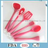 Spatule de silicones pour faire cuire l'ustensile ss02 d'outil de cuisine de silicones de traitement au four