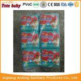 Preço de fábrica descartável de Fujian do fabricante do tecido do bebê de Tete