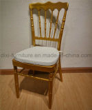 결혼식 이동할 수 있는 방석을%s 가진 알루미늄 나폴레옹 의자