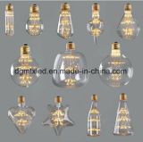LEIDENE MTX gloeilampenG95 Globose LEIDENE bol de Creative Personality Design Decoratieve Gloeilamp 220V Warme Gele 2200K van Edison Bulb