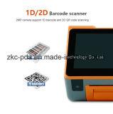 Doppelbildschirm-Gaststätte-Drucker androide PDA bewegliche Position
