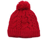 Sombrero de encargo de la gorrita tejida del Knit POM POM del telar jacquar del invierno del sombrero de acrílico de la gorrita tejida