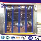 Porta interior industrial automática do obturador do rolo do PVC do Practicability