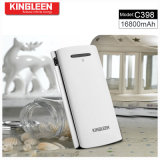 Kingleen 모형 C398 큰 수용량 및 고품질 힘 은행 16800mAh는 산출 USB 2A 이중으로 한다