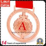 medaglia di sport del premio di effetto di vuoto dell'argento del metallo 3D