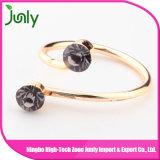 최신 숙녀 금 반지는 수정같은 반지를 디자인한다