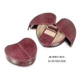 다이아몬드 디자인 Handmade 빨강 PU 가죽 선물 패킹 저장 보석 상자 또는 상자