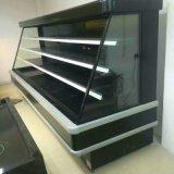 Refrigerador dianteiro aberto Semi elevado personalizado do indicador do indicador dos vegetais e das frutas