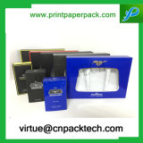 プラスチックWindowsの香水の紙箱が付いている美しいハンドメイドの光沢のあるボール紙の紙箱を予約した