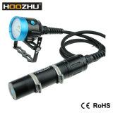 Lámpara video del salto de la caja del Lm de la luz 4000 de la zambullida de Hoozhu Hv3 para el vídeo con las baterías 2X 32650