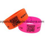 Wristband azul do silicone com o Swoosh Thb-038