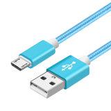 Cabo rapidamente cobrando puro do carregador dos dados do USB do cobre 3.3FT para o telefone Android