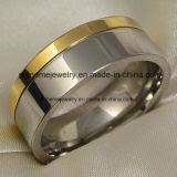 [شينم] مجوهرات [تيتنيوم] ينحت [غلد رينغ] ([تر1818])