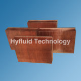 Skived теплоотводы ребра, Skiving Heatsink ребра, омедняют Skived теплоотвод, Skive теплоотвод 200X152X45mm, медь