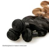Pelo brasileño de la dicha de la armadura del pelo de Brown de la carrocería de la onda del pelo brasileño de Ombre