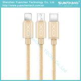3 in 1 schnellem aufladenusb-Daten-Kabel für Tablette/Android/iPhone6