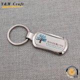 Kundenspezifischer fördernder Metallauto-Schlüsselring mit Marken-Firmenzeichen