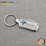 Presente promocional Corrente chave com chaveiro de metal personalizado com dominga