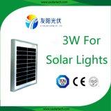 Sistema do painel solar da alta qualidade 2.7W-3W Pico para aplicações do fuzileiro naval das luzes de rua