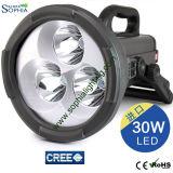 Linterna de la luz de la búsqueda del CREE LED del poder más elevado 30W