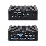 2개의 근거리 통신망 포트 및 3개의 직렬 포트 (JFTC180CS02)를 가진 인텔 Celeron 소형 PC