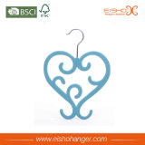 Cintre en plastique d'écharpe de grand de coeur velours spécial de forme