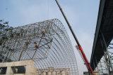 Modèle et construction de cloche de charbon de structure métallique de bâti de l'espace