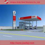 Gasolinera del marco del espacio/pabellón de acero prefabricados de la gasolinera