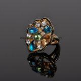 Anel Czr2570 do chapeamento 18k do diamante da cor da fundição de aço inoxidável da jóia de Shineme