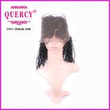 페루 Virgin Remy 100%년 Virgin 사람의 모발 처리되지 않는 처리되지 않은 꼬부라진 360의 레이스 정면